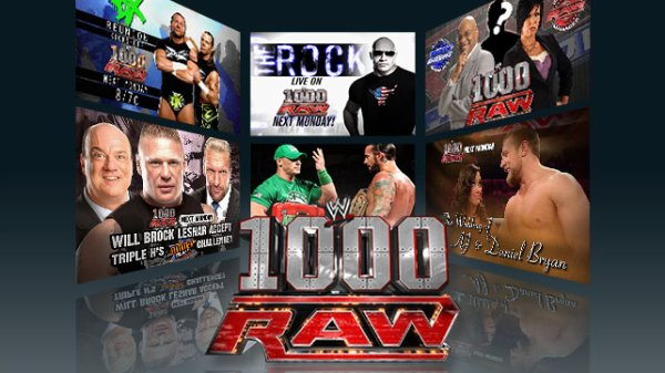 Monday night Raw 1000éme épisode en live!