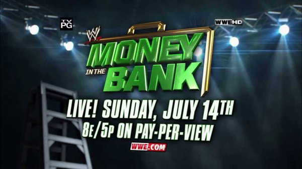 WWE money in the bank en live !