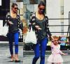 Alessandra et sa fille Anja en à Santa Monica en Californie le 19 août.