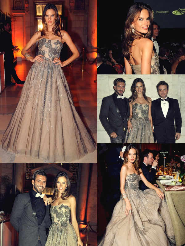 Alessandra à un Gala à New-York.