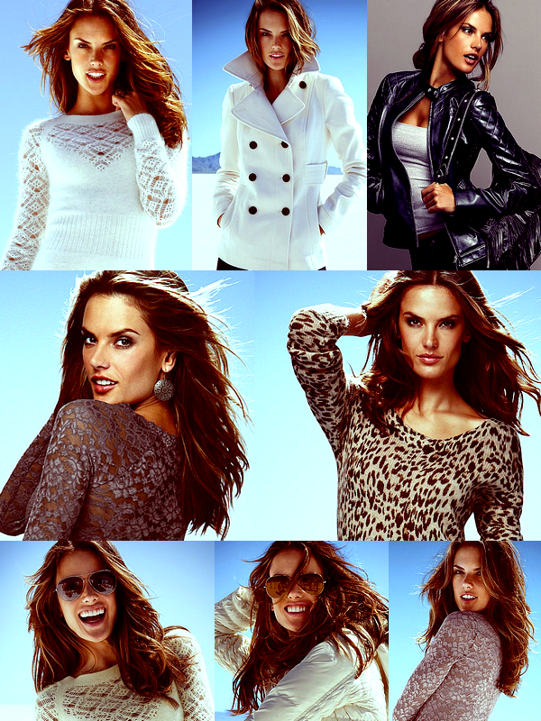 Alessandra pour Victoria's Secret Hiver.
