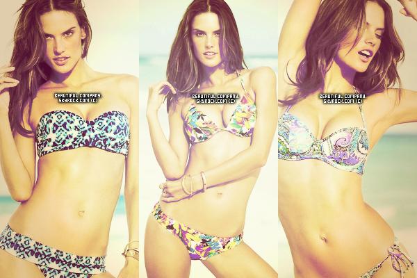 Voici de nouvelles photos d'Alessandra pour Victoria's Secret swimwear !