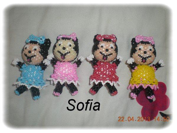 Schémas figurine Minnie 8cm