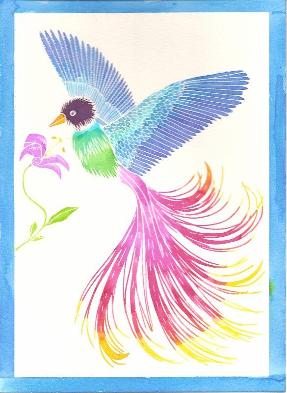 Aquarellum: Oiseau