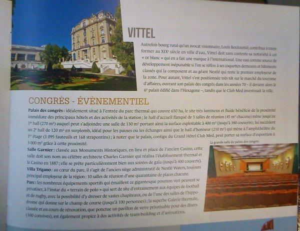 <3   HOTEL VITTEL PALACE  <3 ELLE EST JOLIE MA VILLE...