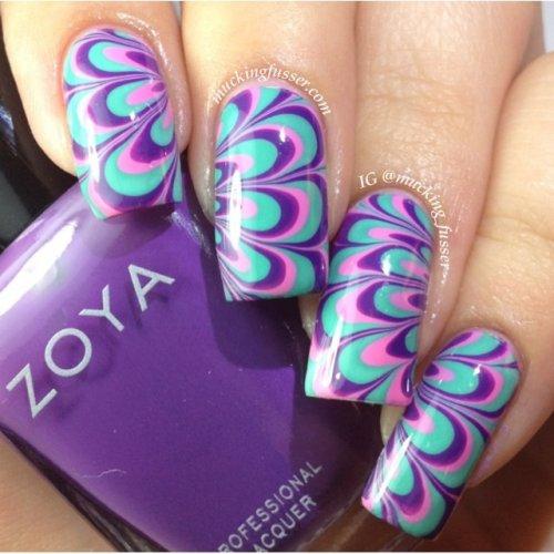 nail art water