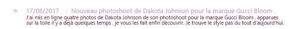 15.08.2017 -Notre talentueuse Dakota Johnson a était vu au magasin Kreation à West Hollywood prenant son café. Message : Well... It's official...j'adore le sourrire de Dakota , elle est vraiment toute belle. La tenue est simple.