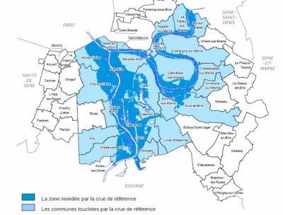 carte zone inondable yvelines Carte des zones inondables dans le Val de Marne   Blog de