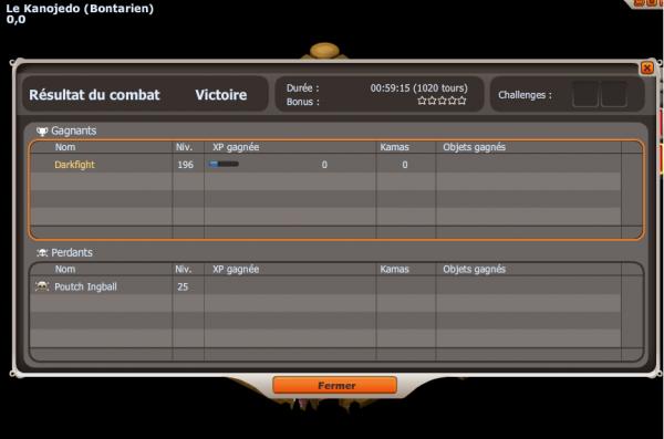 Donc voici la fin du combat après avoir remplie la map de cawottes x)