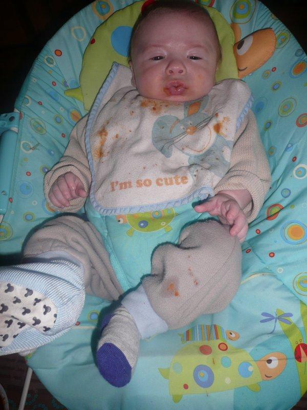 mon bébé son premier petits pots mdr