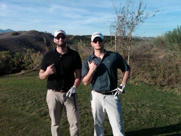 Jensen et Jason Manns au golf le 23-11-2011