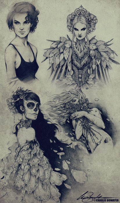 Sketch makes by Charlie Bowater