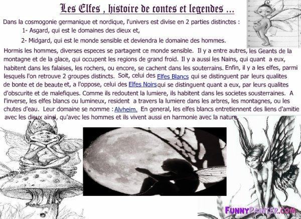 Les Elfes, histoire de contes et légendes...