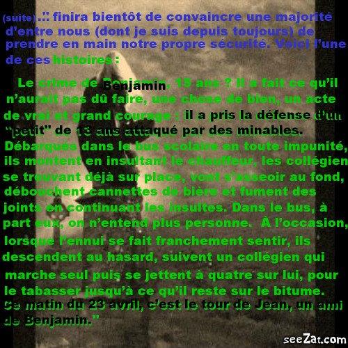 """""""Repose en paix petit homme"""" (partie 3)"""
