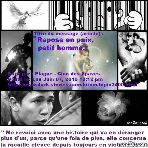 """""""Repose en paix petit-homme"""" (partie 1)"""