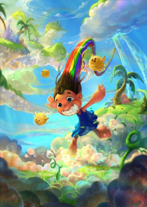 Running Rainbow by Victorior