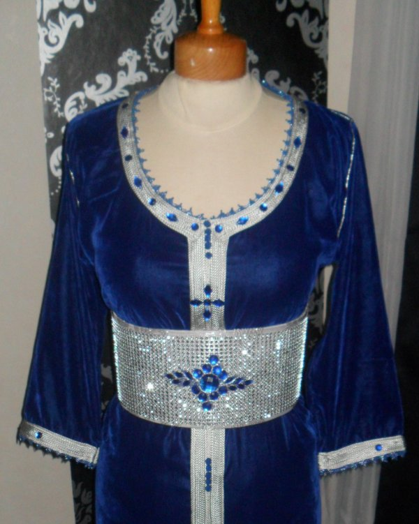 Caftan Bleu/Argent