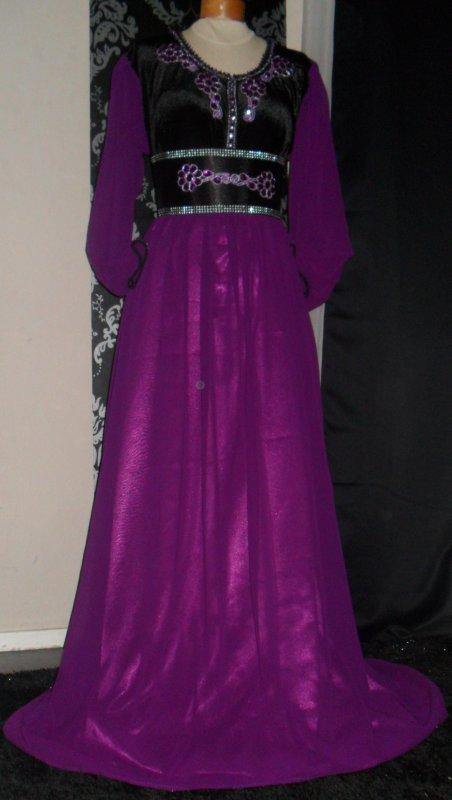 Robe Noire et Mauve Spécial Grande Taille