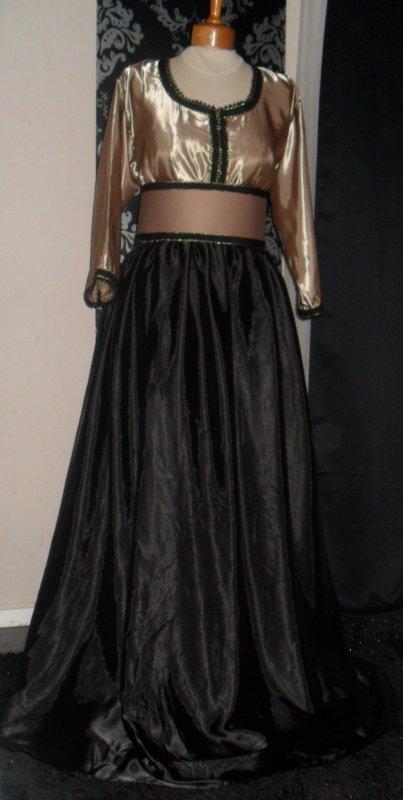 Robe Noire et Marron Spécial Grande Taille