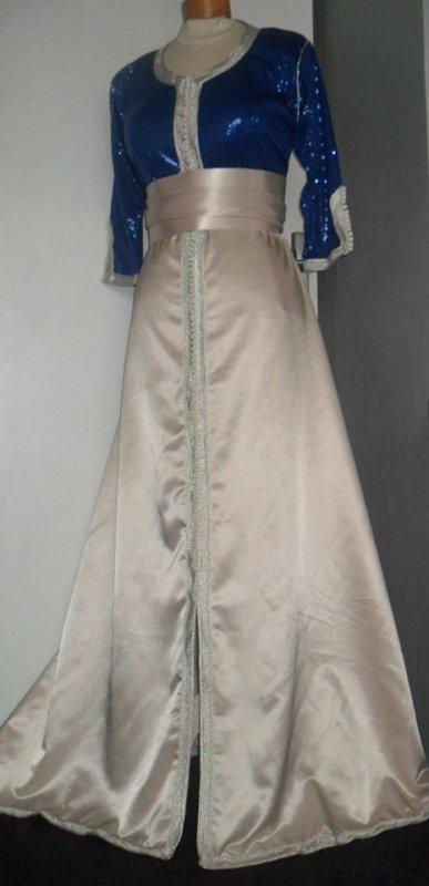 Robe Crème et Bleu