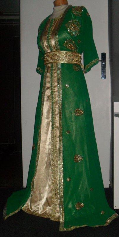 Robe Verte et Dorée