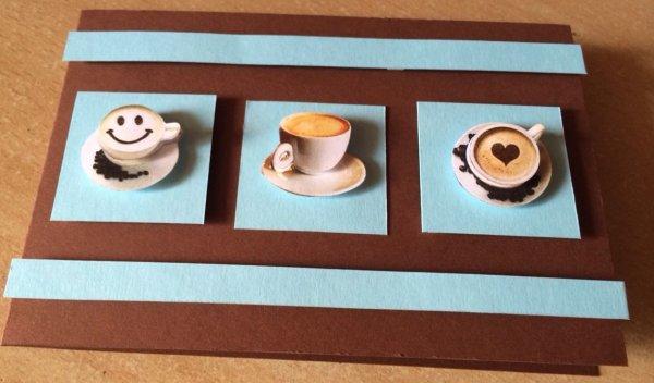 Carte de v½ux multi-usages café