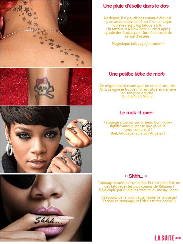 Les tatouages deRihanna