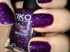 Verni violet pailletter kiko