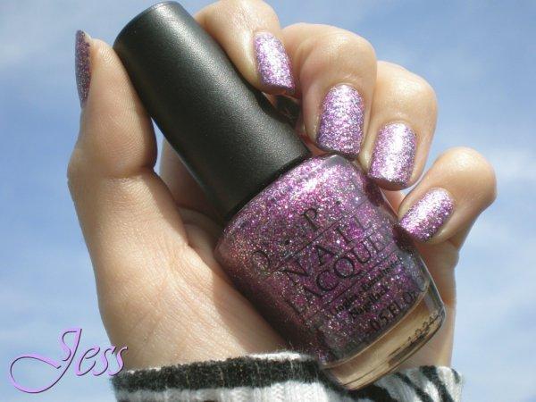 Verni violet claire pailletter OPI