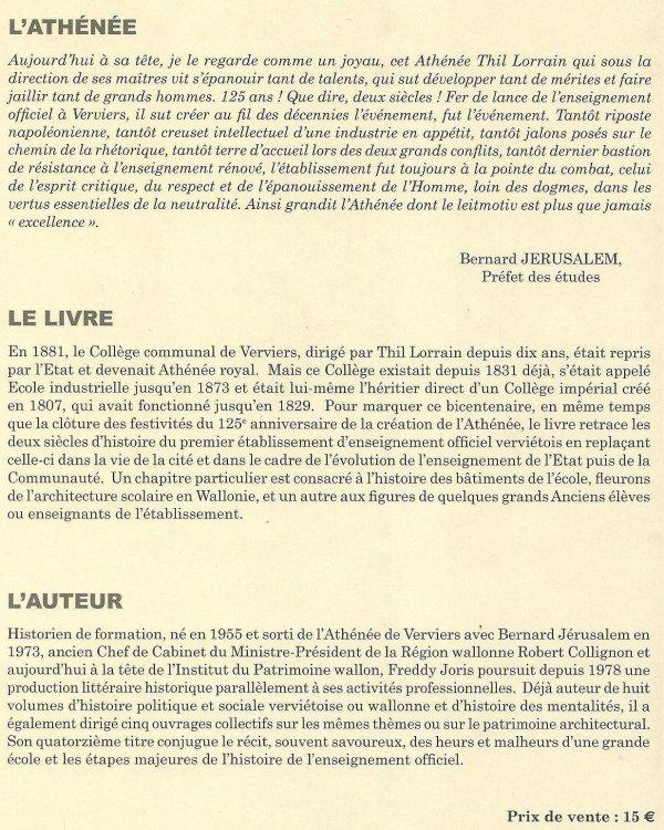 Livre de Freddy Joris (240 pages) en vente à l'ARV