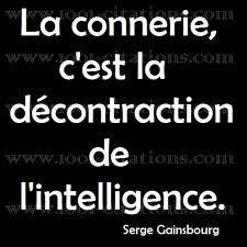 La connerie c'est la décontraction de l'intelligence