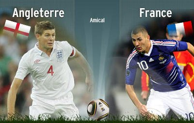 Match Amical.       ANGLETERRE- FRANCE.