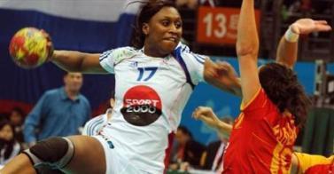 Hand championnat  d'EURO 2010 Femmes.            Présentation avant match.  France- Slovénie.