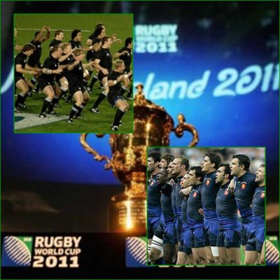 RUGBY  Finale coupe du monde.  NOUVELLES ZELANDE- FRANCE.