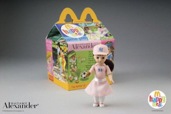 les miniatures madame alexandr pour les happy meals de mc donald