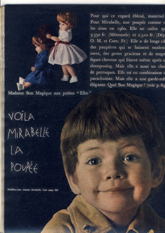 babette s'en va t'en guerre et la poupée mirabelle de Elle aussi..