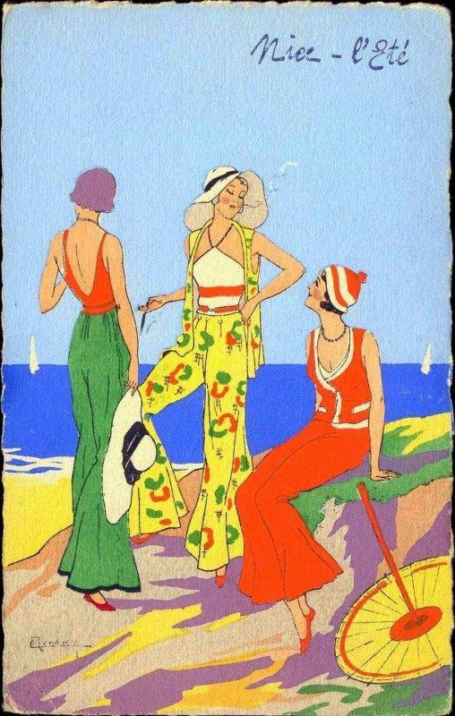 bleuette a la mode du pyjama de plage