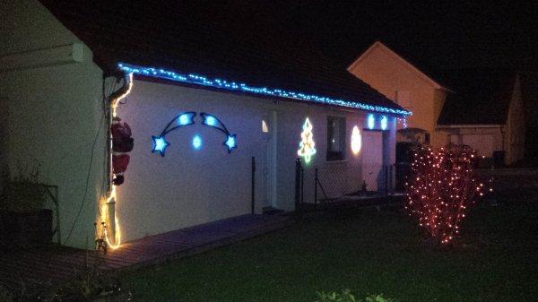 Déco de Noel sur la maison.