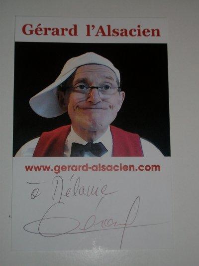 Autographe de Gérard L'asacien