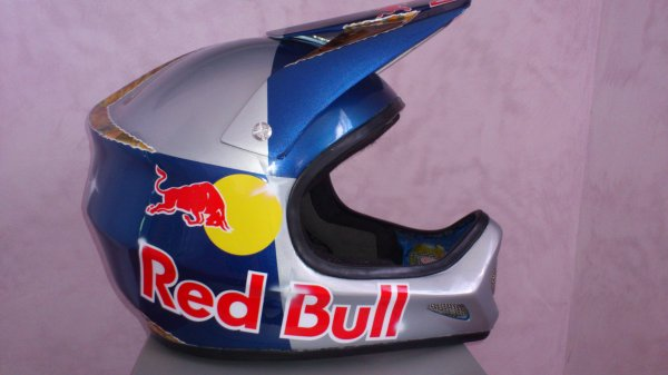 casque bmx race red bull
