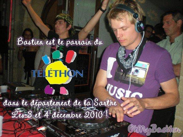 Bastien sera le parrain du Téléthon dans la Sarthe les 3 et 4 décembre !