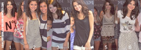 . Selena pendant des Meet & Greet! Qu'elle tenue préfères-tu, le plus? Le moins ?. découvrez cet article spécial entièrement par moi ©