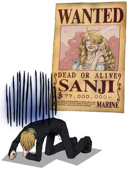l'avis de recherche de sanji