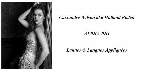> Cassandre Wilson <