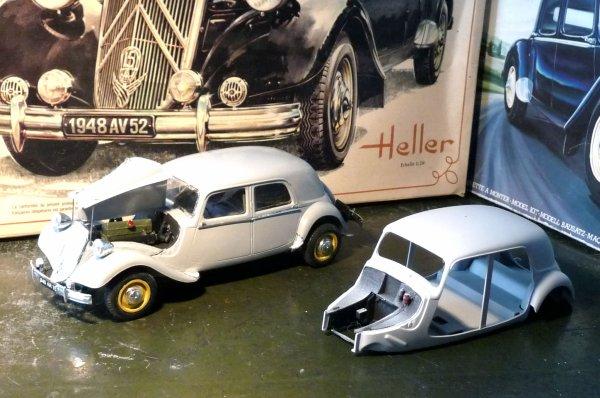 HELLER maquette 1/24éme -  CITROËN 15 cv 6 cyl  Berline 1948