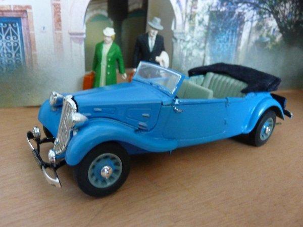 1938 CITROËN CABRIOLET 5 PLACES CARROSSERIE GIRARD PARIS  - Matchbox 1/32