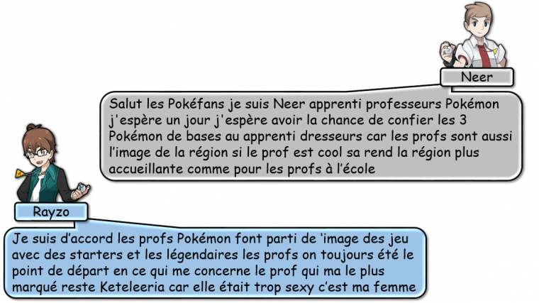 LES PROFS POKEMON !
