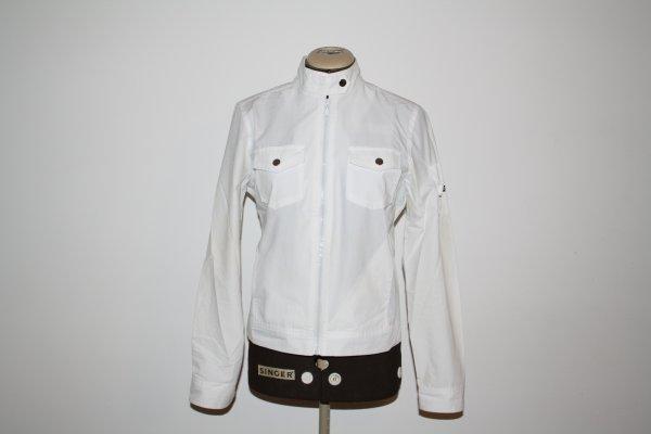 Veste blanche zippée