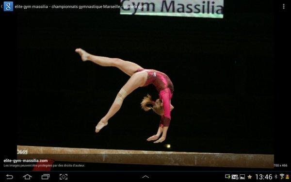 Gymnastique artistique : la poutre