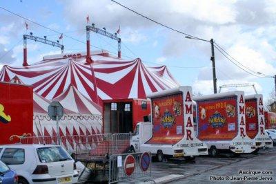 chapiteau du cirque AMAR